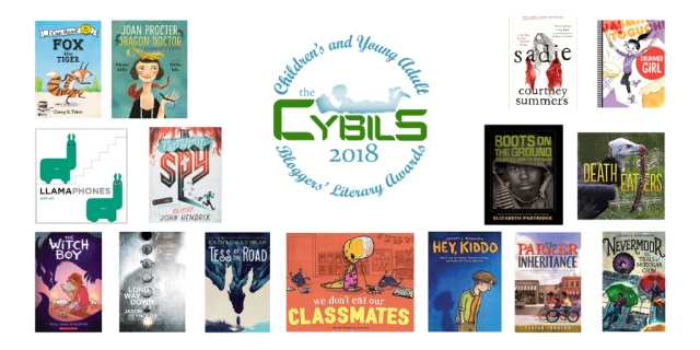 Covers of the 2018 Cybils Award winners